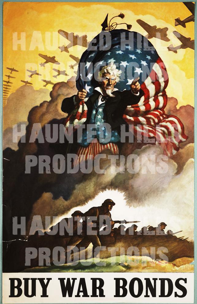 Buy War Bonds Vinyl Poster