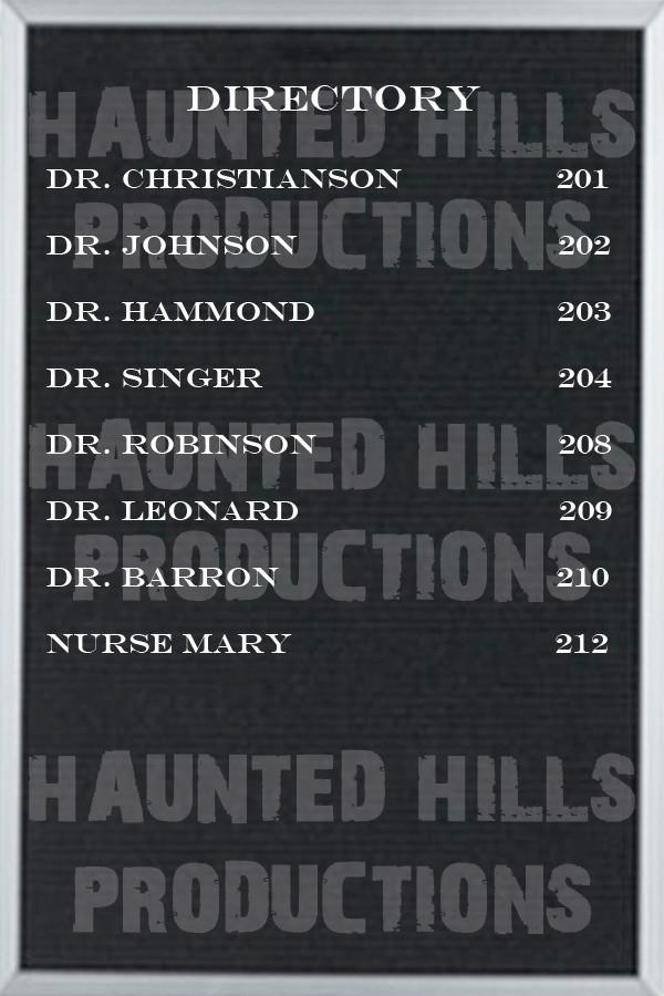 Slide Board Directory Vinyl Poster