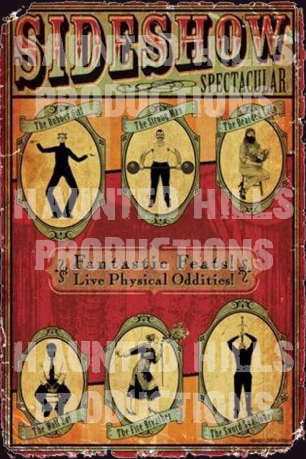 Sideshow Vinyl Poster