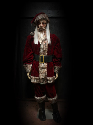 Santa Costume With Old Saint Mask
