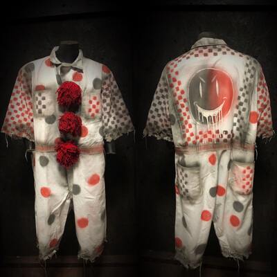 White Clown Jumpsuit