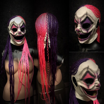 Female Grin Clown Mask