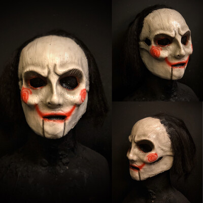 White Saw Mask