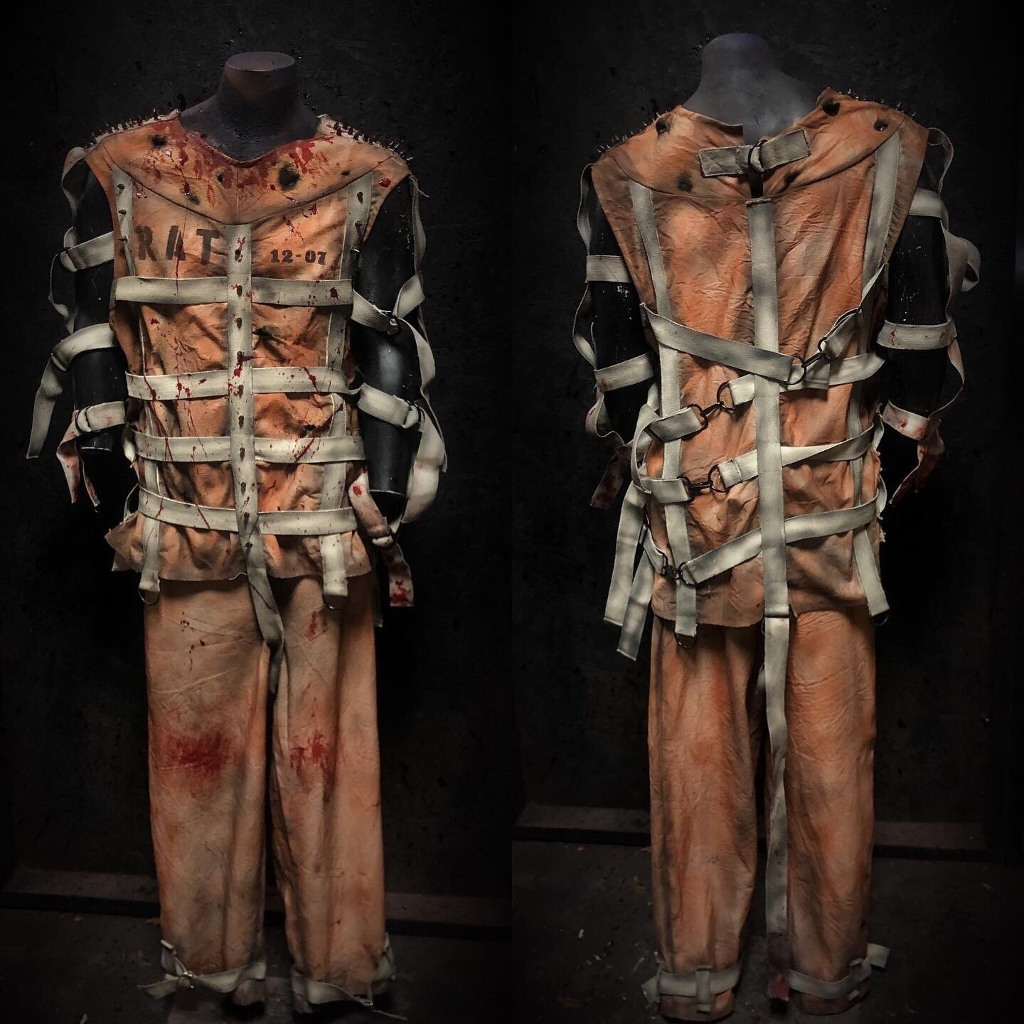 Restraint Vest With Spikes