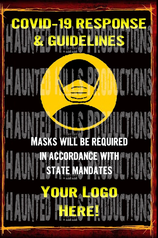 COVID Mask Vinyl Poster