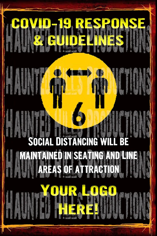 COVID Social Distancing Vinyl Poster