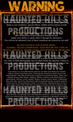 Rules Sign Vinyl Poster 3x5