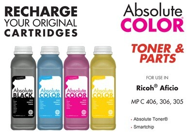 4 Toner Refill for RICOH MP C305/C306/C406 - US Product