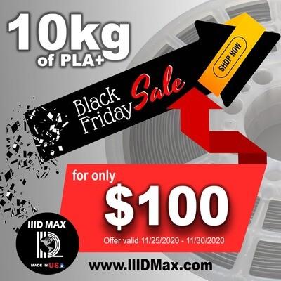 10 x lllDMAX PLA+ Premium  3D Printer Filament- $100.- Black Friday Promo