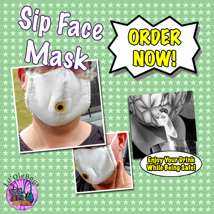 Lil Ole Sip Face Mask - Single Elastic Strap