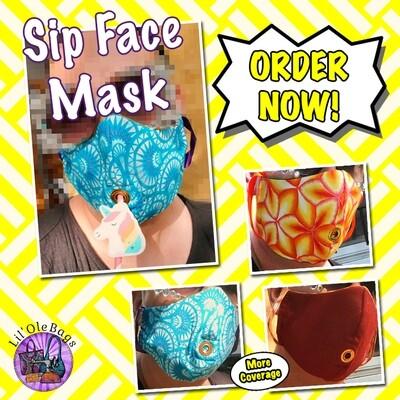 Lil Ole Full Face Sip Mask - Single Elastic Strap