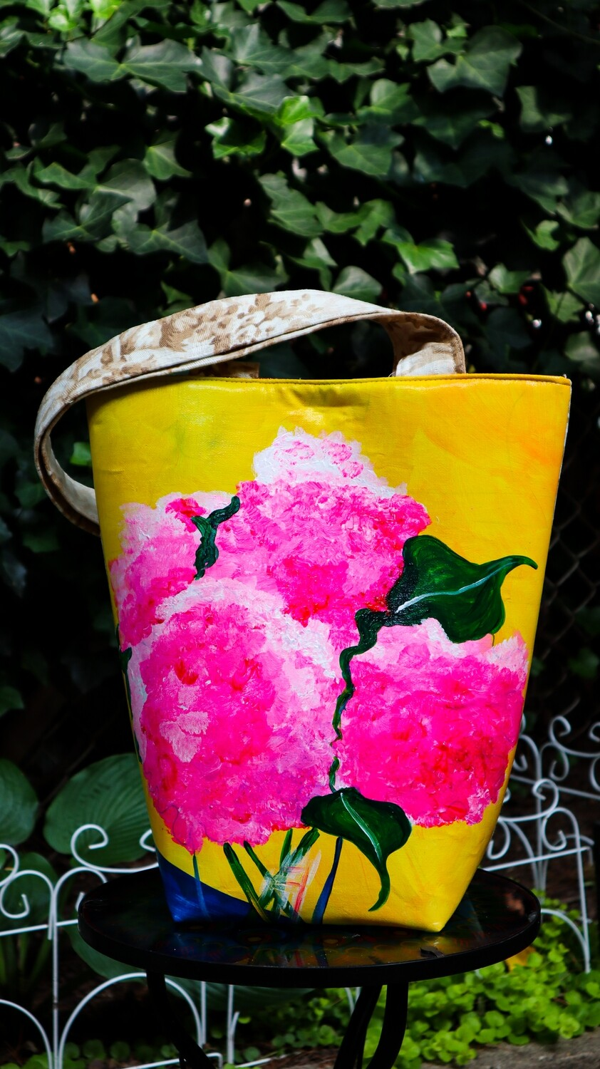 Bright Pink Flowers Tote