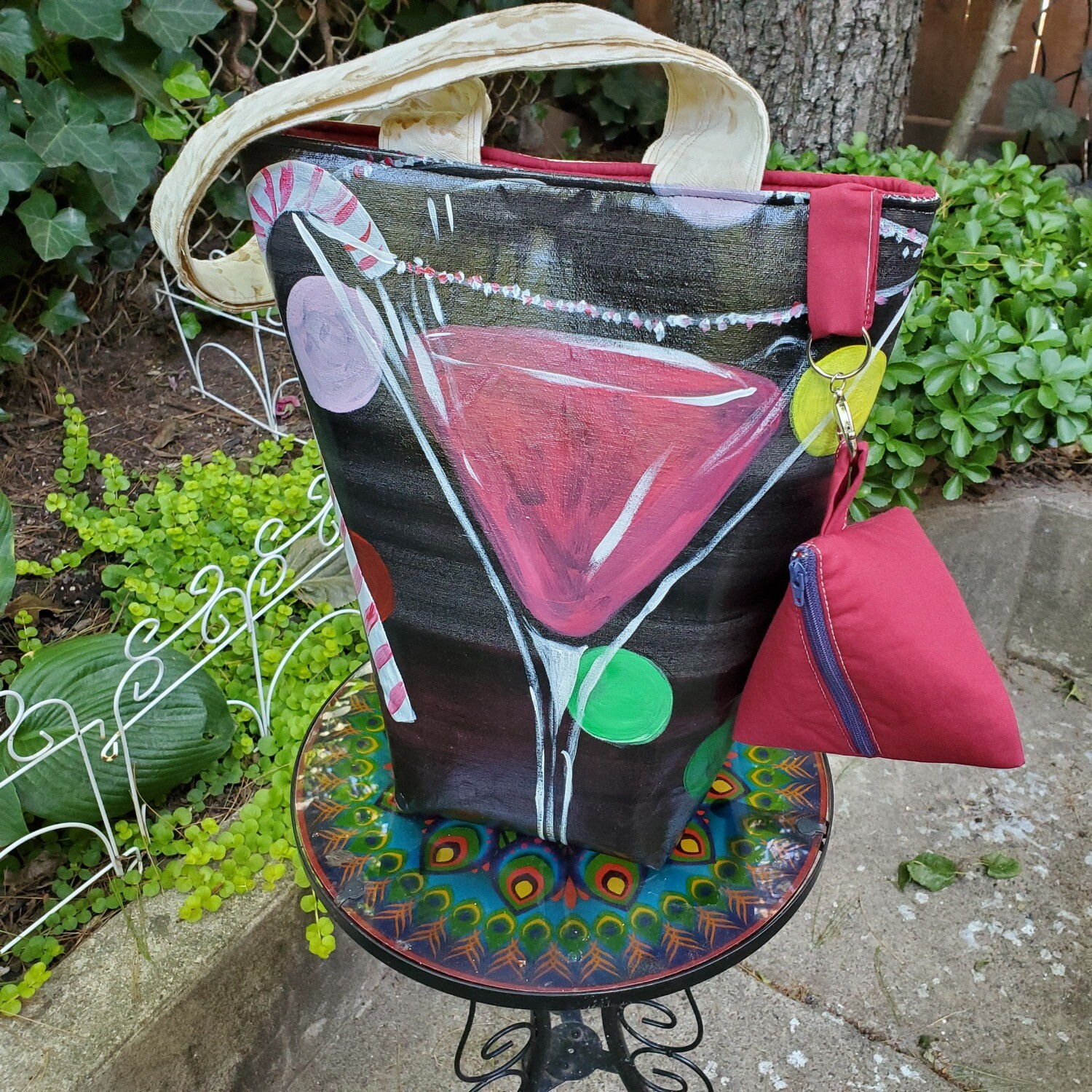 Holiday Cocktail Pyramid Tote