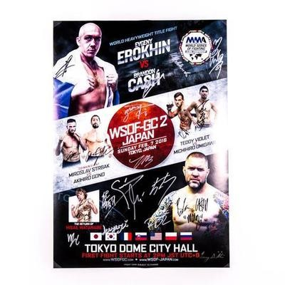 "World Series of Fighting Global Championship 2 autographed 20"" x 30"" poster $79.00"