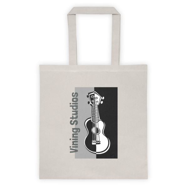 Liberty Bags Canvas Tote With Ukulele Image