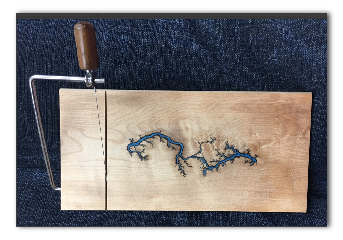 Maple Cheese Slicer with an epoxy inlay (#CS-3)