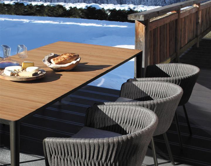 U-NITE Ю-найт мебель из алюминия и тика Royal Botania Бельгия