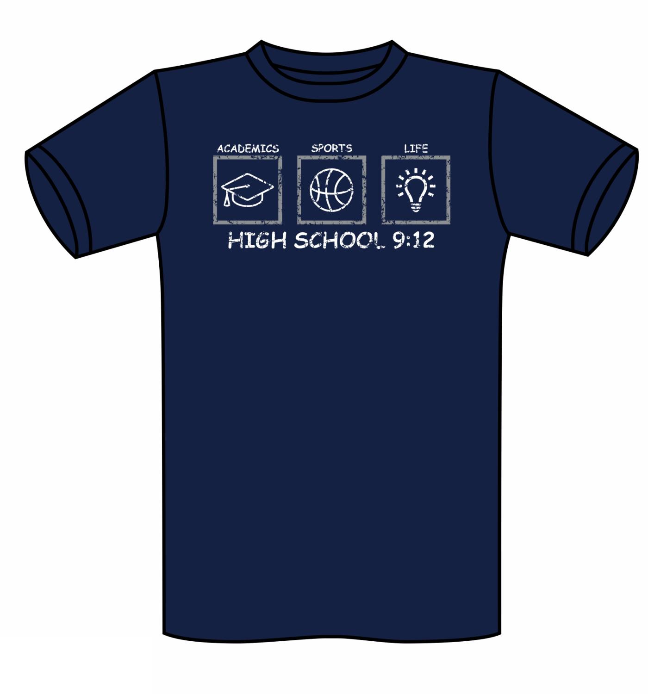 High School 9:12 Tee