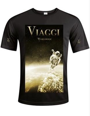 Viaggi Custom Black/Gold Polyester Tee