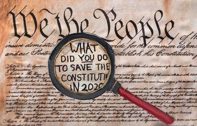 The Constitution Postcard