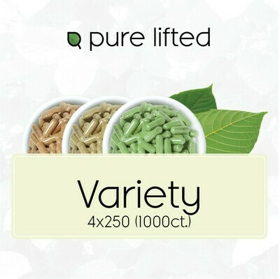 4x250 Kratom Variety Pack (1000 Capsules)