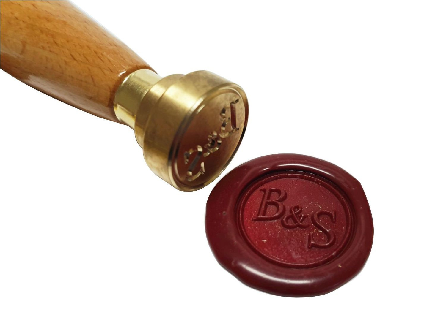 10 Stk. Selbstklebende Siegel mit Monogramm und Zierrand