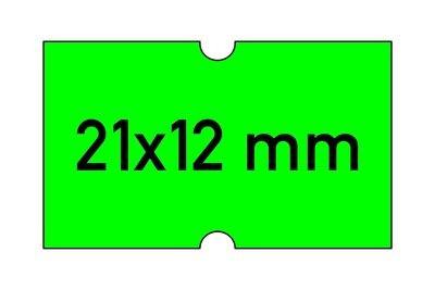 Etiketten 21x12 mm grün