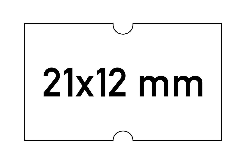 Etiketten 21x12 mm weiss