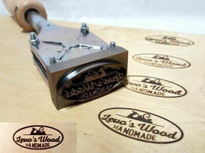 Branding iron ALK T2 50x25 or 35 mm diameter
