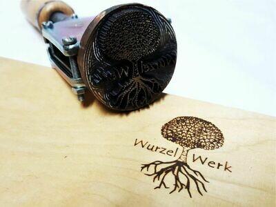 Branding iron ALK T4 with engraved branding head