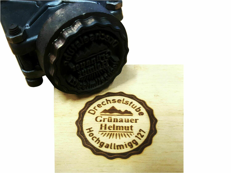 Brennstempel ALK T2 35 mm rund inkl. Gravur