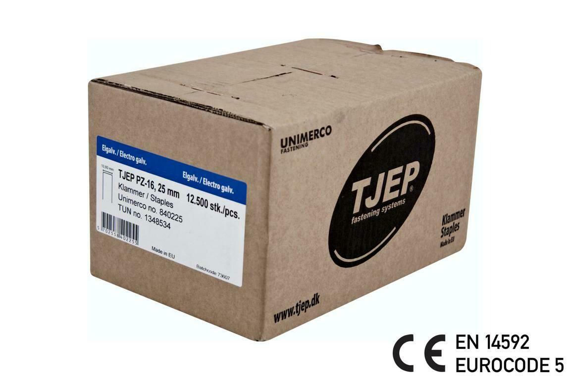 12.500 Klammern G/25 12µ verzinkt CE mit Bauzulassung