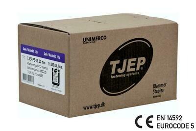 11.000 Klammern G/32 12µ verzinkt CE mit Bauzulassung