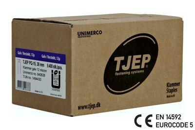 9.400 Klammer Q/38 12µ geharzt CE Bauzulassung EN 14592 - Eurocode 5