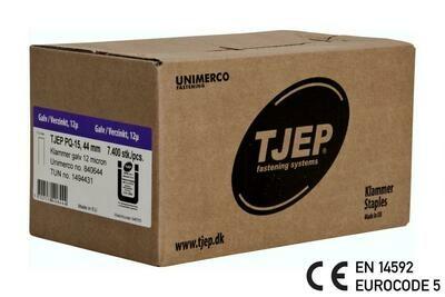 7.400 Klammer Q/44 12µ geharzt CE Bauzulassung EN 14592 - Eurocode 5