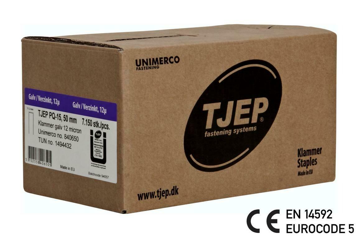 7.150 Klammer Q/50 12µ geharzt CE Bauzulassung EN 14592 - Eurocode 5