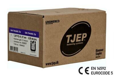 6.250 Klammer Q/57 12µ geharzt CE Bauzulassung EN 14592 - Eurocode 5