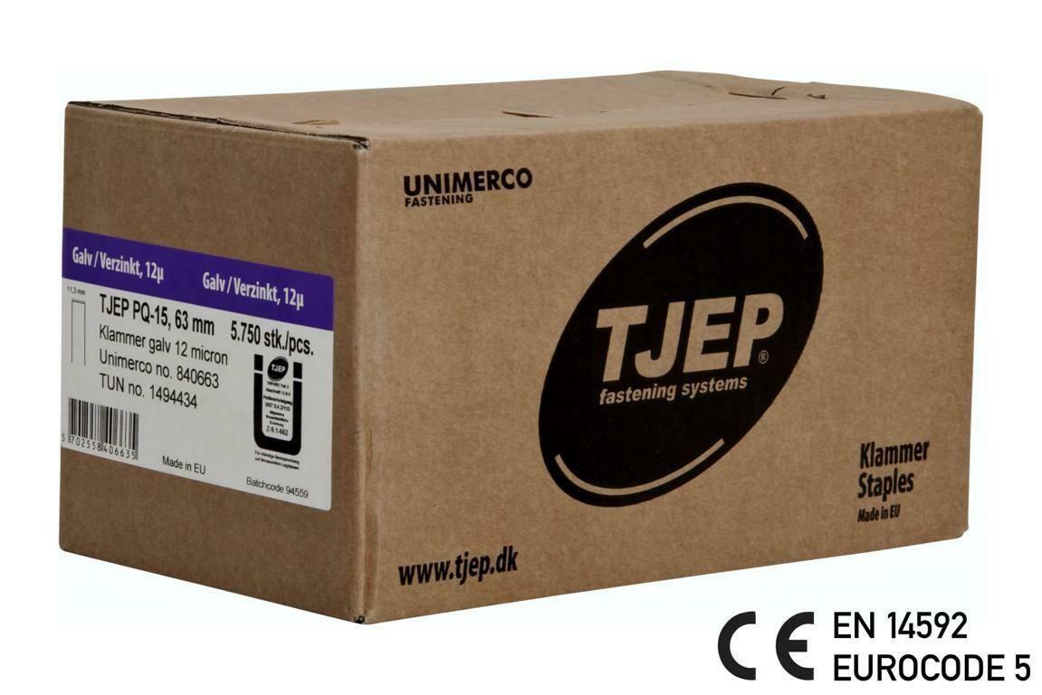 5.750 Klammer Q/63 12µ geharzt CE Bauzulassung EN 14592 - Eurocode 5