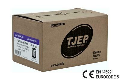 4.700 Klammer Q/75 12µ geharzt CE Bauzulassung EN 14592 - Eurocode 5