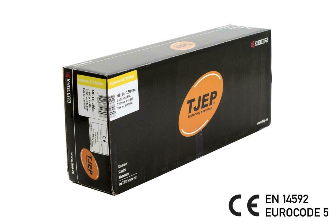 1.100 Klammer MF-14/150 V2A Edelstahl geharzt