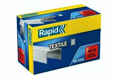 10.000 Heftklammer Rapid 43/8 nk verzinkt