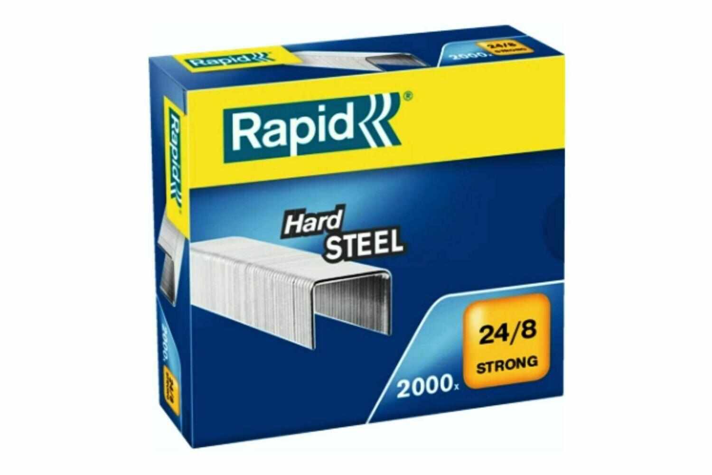 2.000 Heftklammer 24/8 Stahl verzinkt Rapid