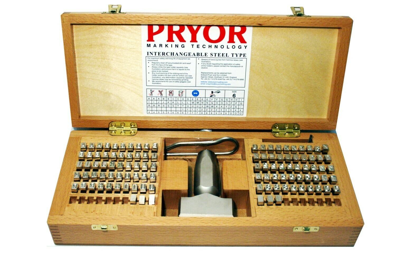 PRYOR Stahltypensatz 6.0 mm mit Typenhalter