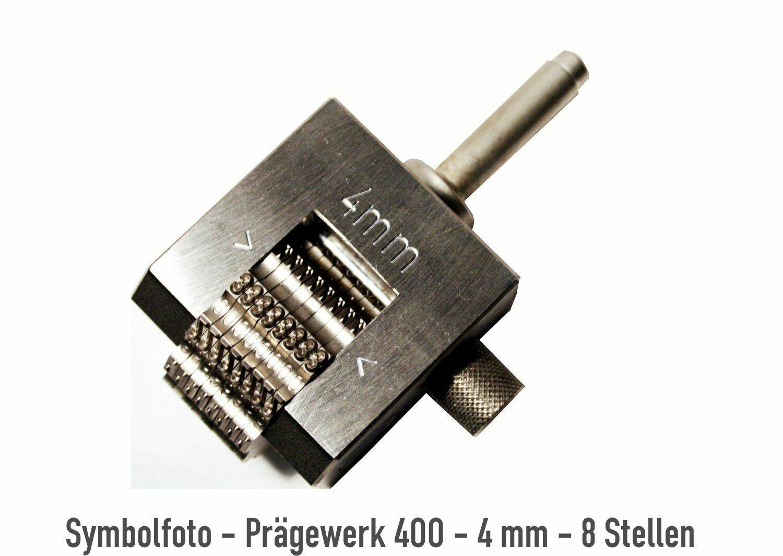 Prägewerk 400 - 3 mm - 6 Stellen