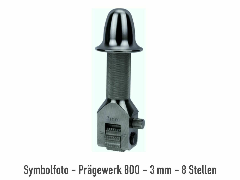 Prägewerk 800 - 5 mm - 8 Stellen