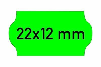 Etiketten 22x12 mm grün