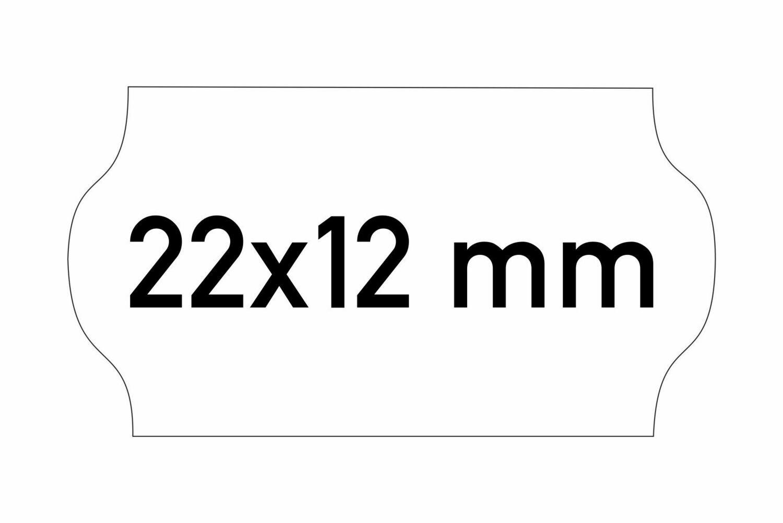 Etiketten 22x12 mm weiss G2 - permanent