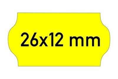 Etiketten 26x12 mm gelb