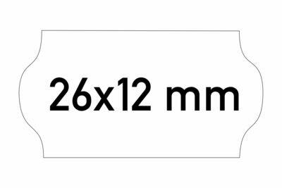 Etiketten 26x12 mm weiss