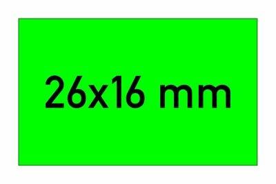 Etiketten 26x16 mm rechteckig grün